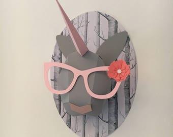 Unicorn origami decoration and activity for children