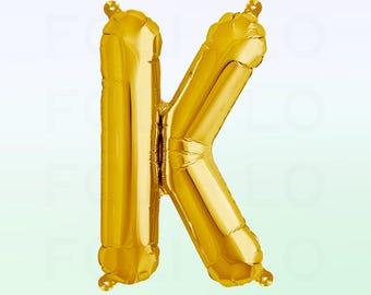Metallic Gold Letter K Balloon | Gold K Balloon | Gold Letter K Balloon | Jumbo Letter K Balloon