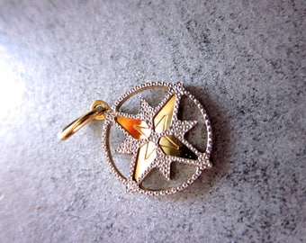 Wind Cross, gift idea, pendant, bijou, jewel, yellow gold, white gold, 18kt, made in italy, gift idea