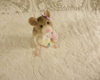 Needle Felted Mouse, Felted Mouse, Felt Mice, Wool Rodent, Cute Mouse