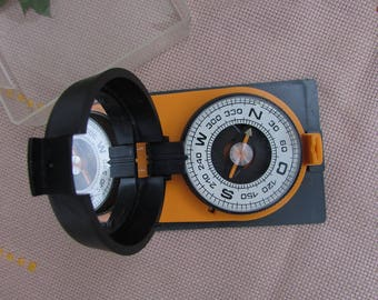 "Vintage Military Compass ""Azimuth"", Made in Russia 80s, Boy Scouts Compass, USSR Collectible, Field Compass, Portable compass"