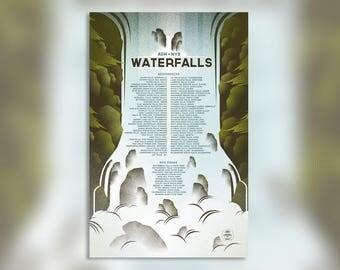 Adirondack Waterfalls - NYS Park Waterfalls - Wall Art Print - Waterfall Print - Adirondacks NY - New York Print - Home Decor - 11x17