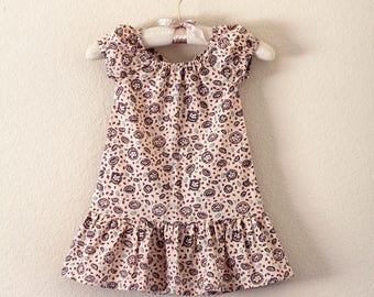 Peasant Dress with French Seams Size 4T 100% Cotton