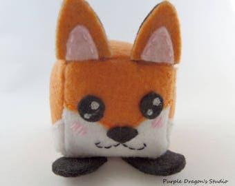 Fox Cube Felt Plushie