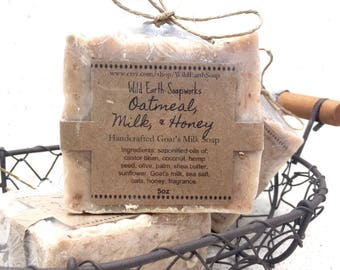 Oatmeal, Milk, & Honey handcrafted goat's milk soap
