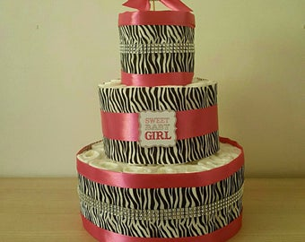 "beautiful girl diaper cake ""Zebra"""