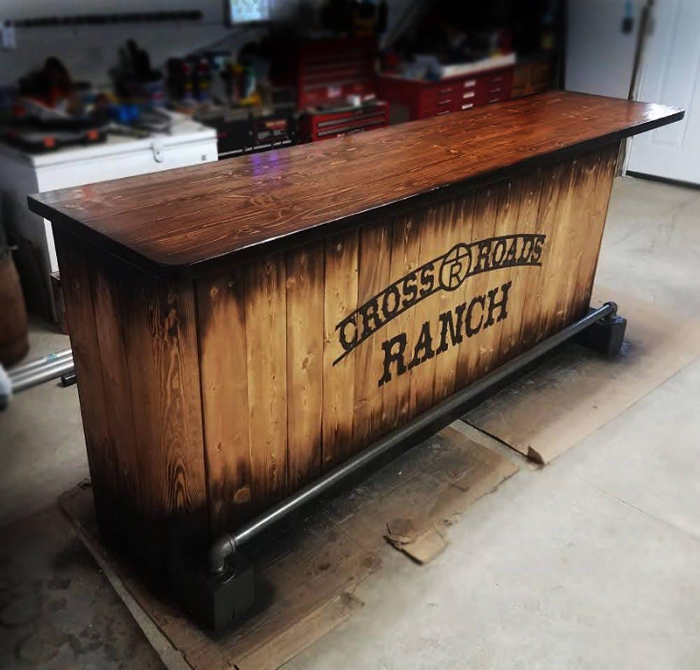 17 Rustic Home Bar Designs Ideas: Home Bar Custom Hand Built Rustic Whiskey, Pub, Man Cave