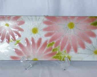 EJP5 : Vintage Japanese Shippo Cloisonne decorative plate with original box