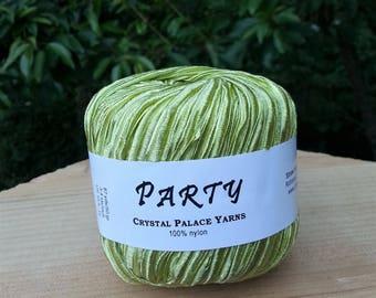 Crystal Palace Party. Ribbon Yarn. 100%  Nylon, 50 gram 87 yards.