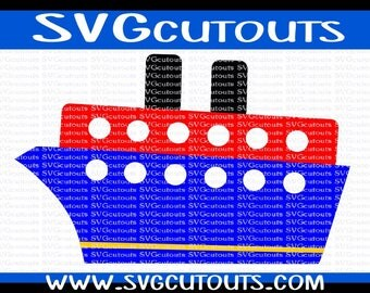 Cruise Ship, Cruiseliner Design, SVG, Eps, Dxf, Png Formats Included, Cutting Machine Files, Cruise Ship Cutting File, INSTANT DOWNLOAD