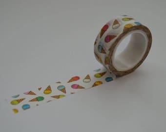 Ice cream washi tape