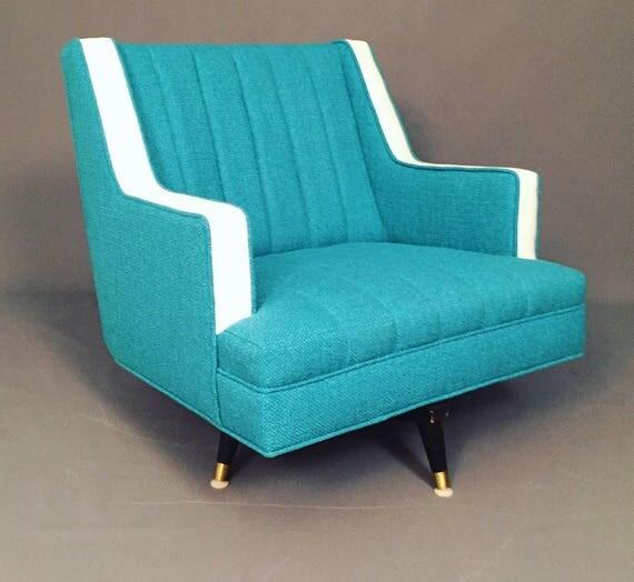 Mid-Century restored swivel/Recliner lounge chair