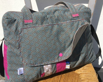 Diaper bag, weekend bag * on order - fabric choices *.