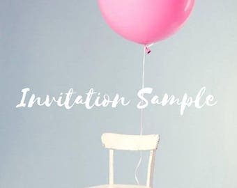 SALE Invitation Sample