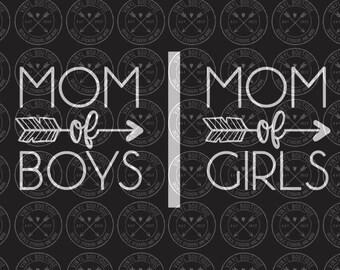 Mom of Boys Girls Decal Yeti Ozark Tumbler Cup Laptop Car Decal Sticker