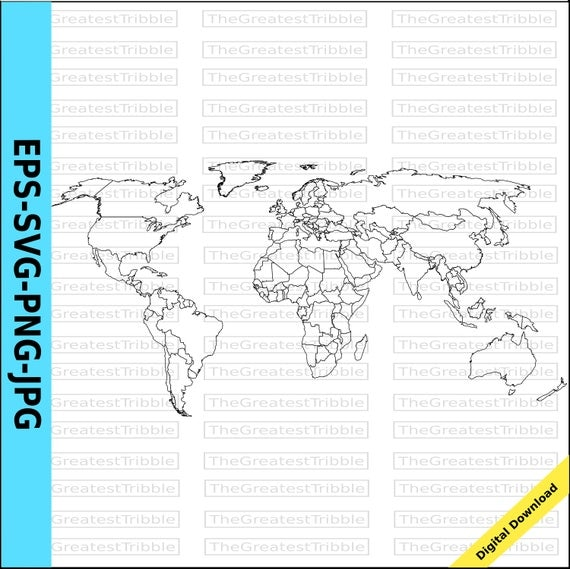 World map world countries map eps svg png jpg vector graphic clip world map world countries map eps svg png jpg vector graphic clip art outline world map outline countries map from thegreatesttribble on etsy studio gumiabroncs Gallery