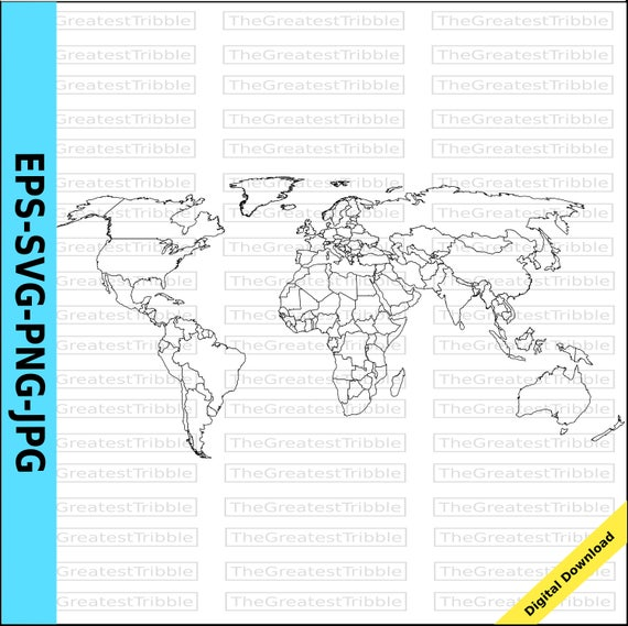 World map world countries map eps svg png jpg vector graphic clip world map world countries map eps svg png jpg vector graphic clip art outline world map outline countries map from thegreatesttribble on etsy studio gumiabroncs Choice Image