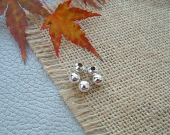 """Set of 30 beads round smooth 2.4 mm Metal Silver """"beads"""""""