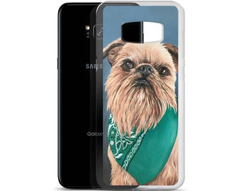 Brussels Griffon Samsung Case: Handmade Acrylic Painting