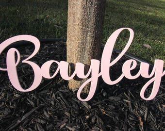 Custom Wooden Name Sign, Nursery Name Sign, Nursery Plaque, Wedding Name Sign, Custom Name Signage, Wooden Name Sign, Backdrop Name