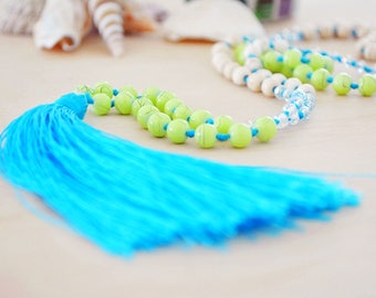 Tassel necklace, festival tassel necklace