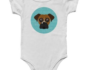 Adorable Boxer Inspired Baby Onesie!