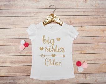 BigSister Shirt, Big Sister Little Sister, Big Sis Little Sis, Baby Girl Shirt, Siblings Shirt
