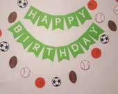 SPORTS HAPPY BIRTHDAY Garland-Boys Birthday-Say Anything Banner--