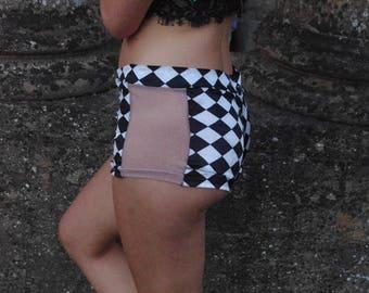 Little miss harlequin knicker~bocker~glorious festival hot pants