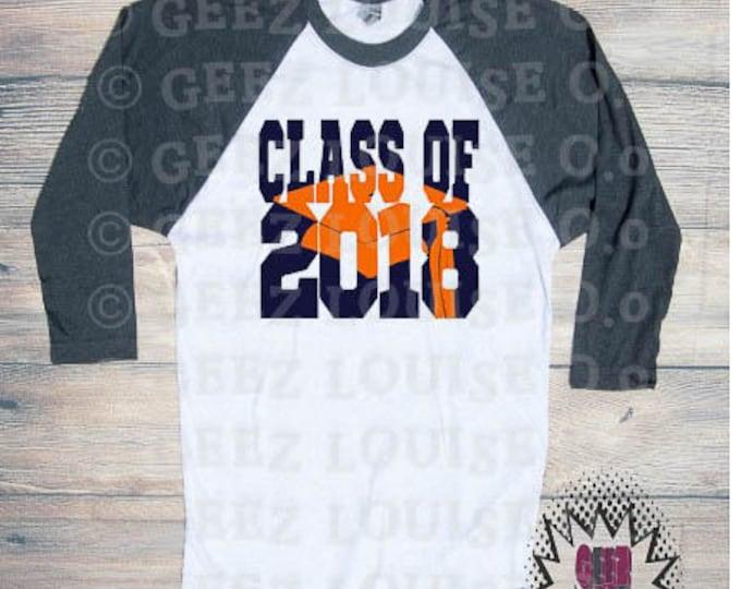 Class of 2018 Graduation T-shirt Adult Raglan Baseball Tee  Vinyl Unisex Cotton Customized Diploma Graduate Senior 18