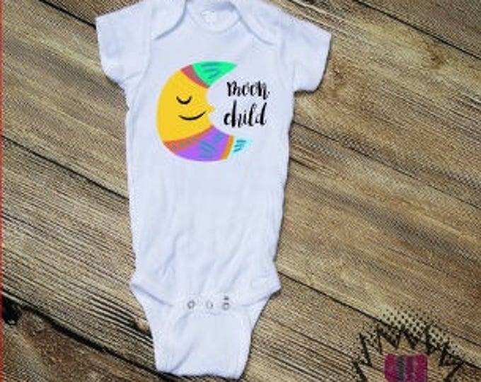 Moon Child Bodysuit Infant  baby Unisex Cotton  t-shirt vinyl