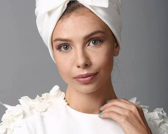 Summer sale 10% OFF tuban hat, white bow turban, turban headband, head wraps, turban hat, hair turban, head turban, head scarf, turban head