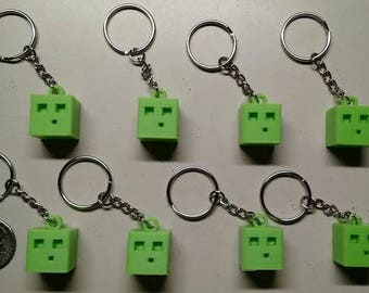 Minecraft Slime keychains - Set of 8 (3d printed!)
