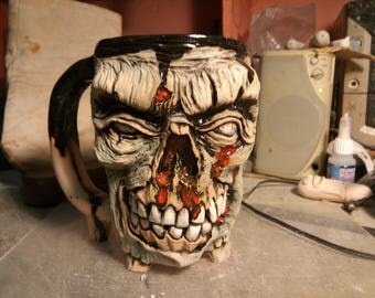A mug for coffee, a Christmas present, a Halloween,Zombie Mug ceramic,Zombie cup,  men gift, zombie Apocalypse 0,5 liter