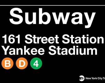NYC Subway Station Stop 161st St. Yankee Stadium Magnet