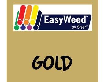 Siser EasyWeed Heat Transfer Vinyl - HTV - Gold