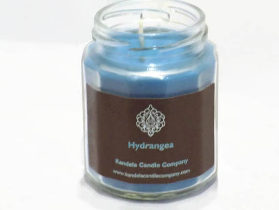 New! Hydrangea Scented Candle in Twelve Sided Jar