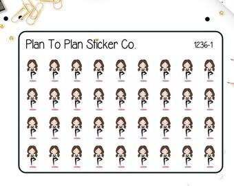 1236~~Emma Yoga Planner Stickers.
