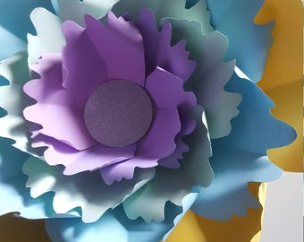 Paper Flower Template  PDF digital #41