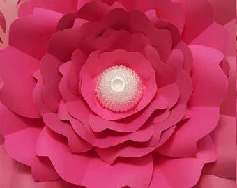 Paper flower template PDF digital file #50