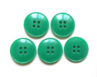 5 round green buttons 22 mm