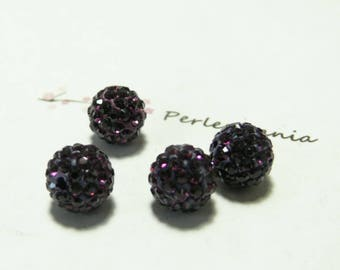 10 pearls 10mm violet purple quality shambala