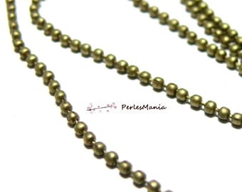 CHAIN has HCHB2Y Bronze 2mm balls beads