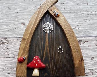 Outside/Indoor garden Fairy Door Elf Door Moonlight Black Range Beautiful Handmade