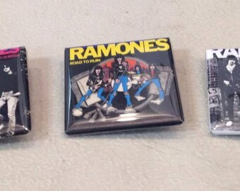 Ramones Set of 3 Square Buttons