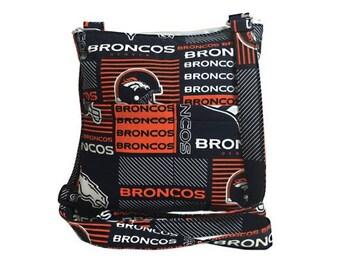 20% OFF SALE Denver Broncos Crossbody Bag // Sling Bag // Crossbody Purse // Shoulder Bag // Hipster // NFL