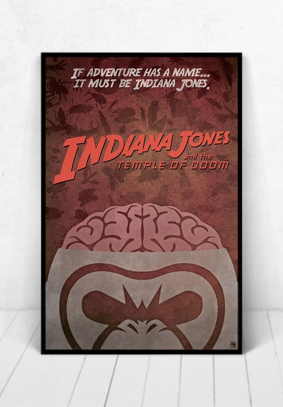 Indiana Jones and the Temple of Doom Movie Poster - Illustration - Movie Poster Indiana Jones and the Temple of Doom