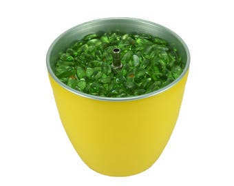 Water Feature Indoor Tabletop C yellow