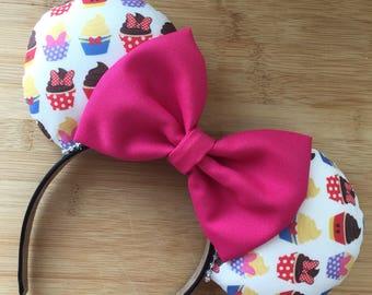 Cupcake Ears, Cupcake Mouse Ears, Cupcake Snack ears