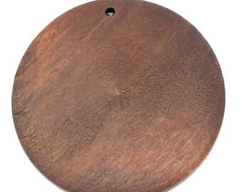 4 pendants round wood coffee 5.9 cm